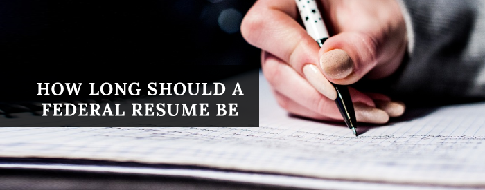 federalresumewriter.com BlogPost 023 header only - how long should resume be