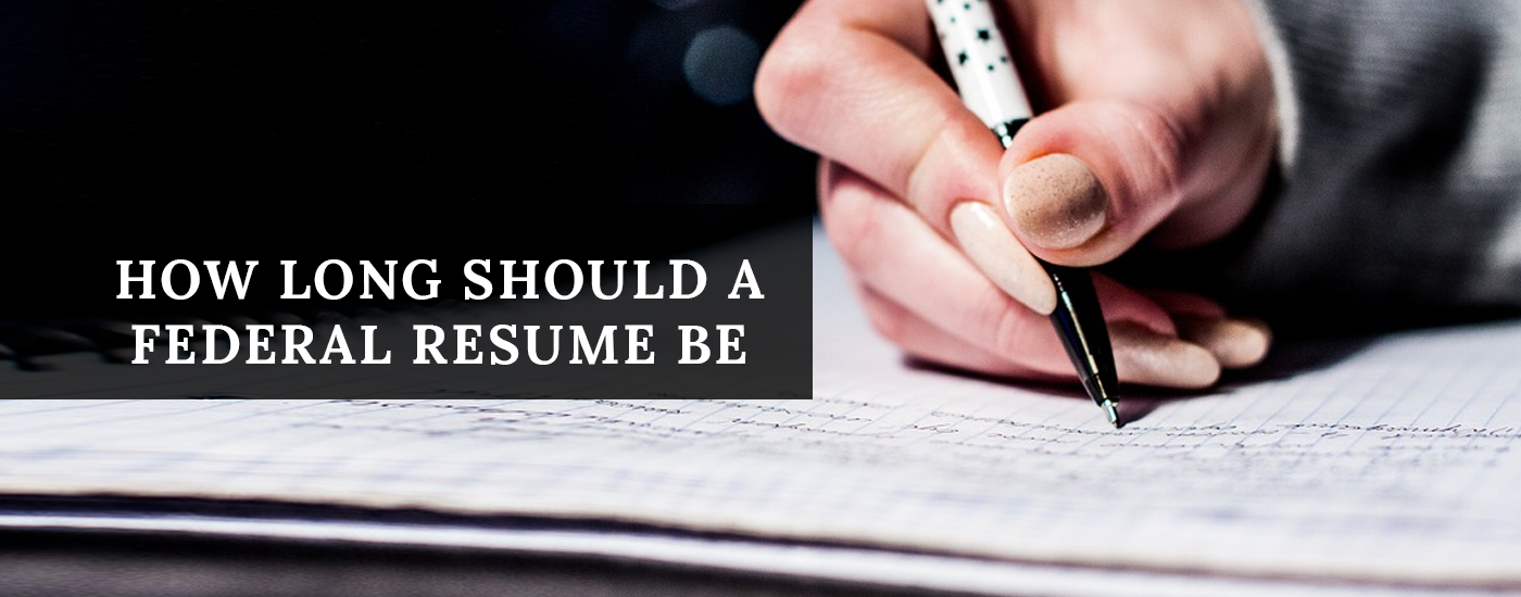how long should a federal resume be resume ideas With how long should a federal resume be