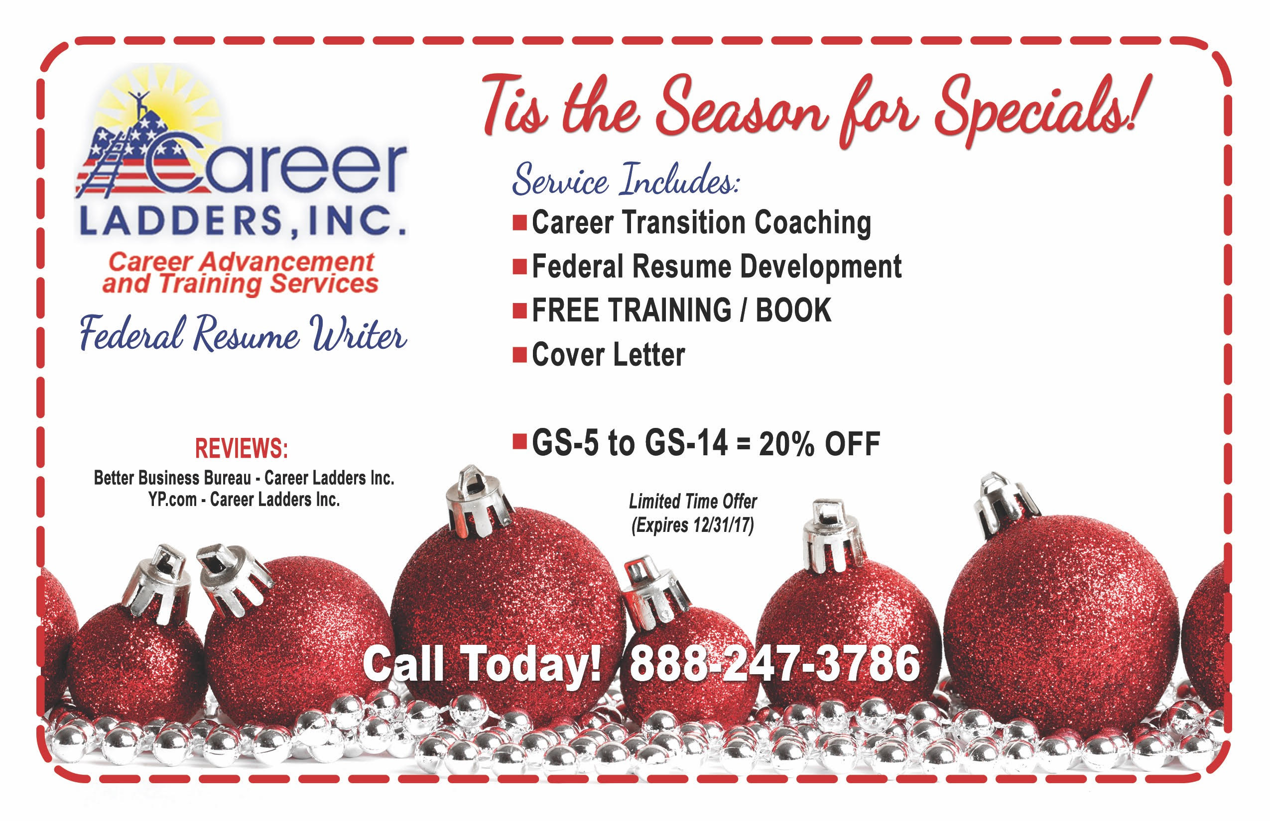 LIMITED TIME SPECIAL OFFER. As A Long Established Certified Federal Resume  Writing Service ...